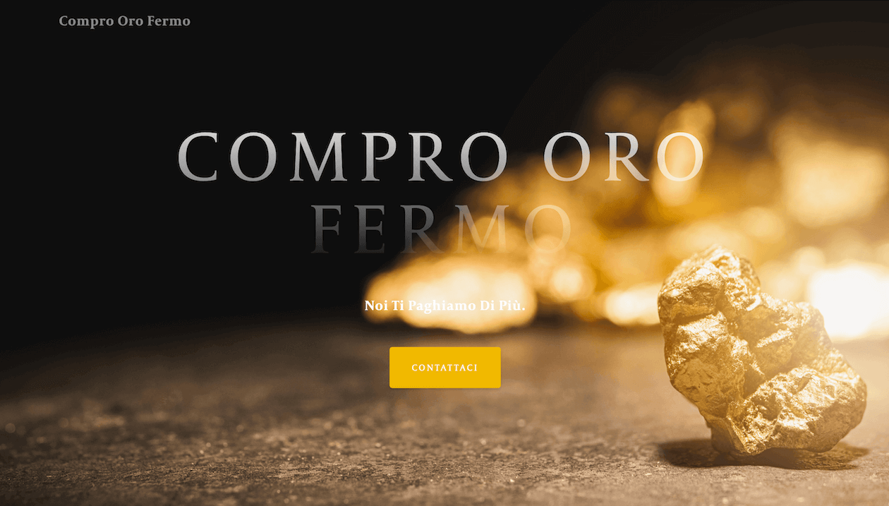 Compro oro fermo website screenshot
