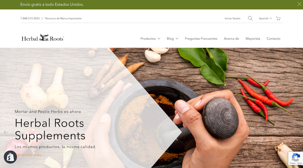 Herbal Roots Website Image